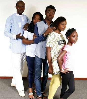 Wale Akorede and his family