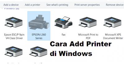 Panduan Cara Add Printer di Windows