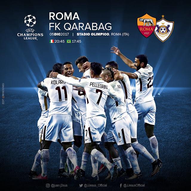 [19:45 GMT] AS ROMA VS QARABAG
