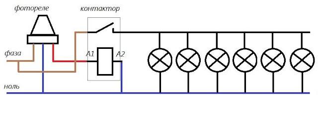 скажу, подключение фотореле через магнитный пускатель благодаря современной