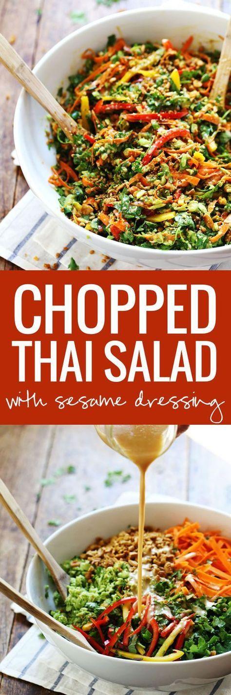 Chopped #Thai #Salad #with #Sesame #Garlic #Dressing