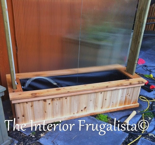Diy Outdoor Water Wall The Interior Frugalista