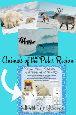 Learning about animals of the Polar Regions always sparks a strong interest in young/er children. This Non-Fiction Report Writing Fun Activity for December or Anytime is fun easy to follow and ignites that motivation to learn!