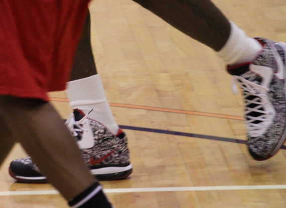 """a453744edee6 ... Nike LeBron 8 V2 """"Graffiti"""" Sneakers Lebron rocked during yesterday s  Goodman League All-Stars vs Melo All-Stars game. Unfortunely these Sneaker  will ..."""