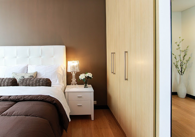 camera da letto-color tortora-arredamento