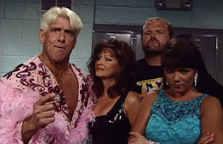 WCW Great American Bash 1996 - Ric Flair, Miss. Elizabeth, Arn Anderson, and Woman of the Four Horsemen