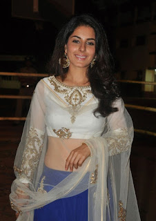 Isha Talwar in a Sleevelss Short Choli and Ghagra at Cheyyi Veste Telugu movie audio launch