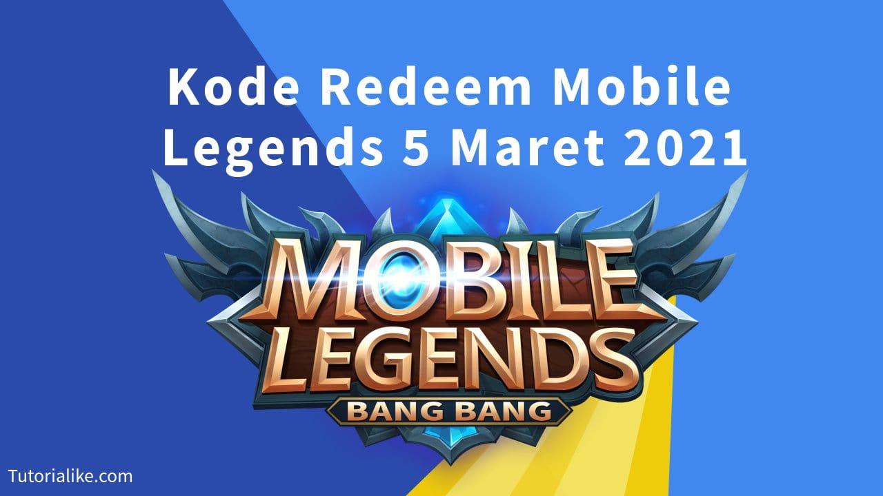 KLAIM 20 Kode Redeem Mobile Legends (ML) 5 Maret 2021 Terbaru