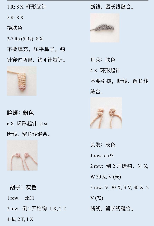 Описание вязания крючком кукольной пожилой семейной пары (2)
