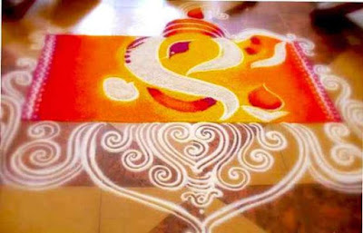 Best Rangoli Design with Colour