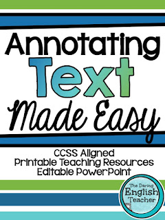 Annotating Text Made Easy: Ideal for middle and high school students.