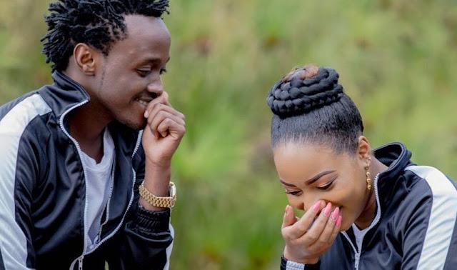 Bahati with his wife Diana Marua.