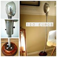 Venta de lámparas customizadas low cost. Lámparas de pie artesanales a buen precio, originales y únicas