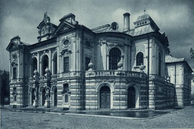 1940 год. Рига. Бульвар Кронвальда, 2. Латвийский Национальный театр (Театр драмы Латвийской ССР)