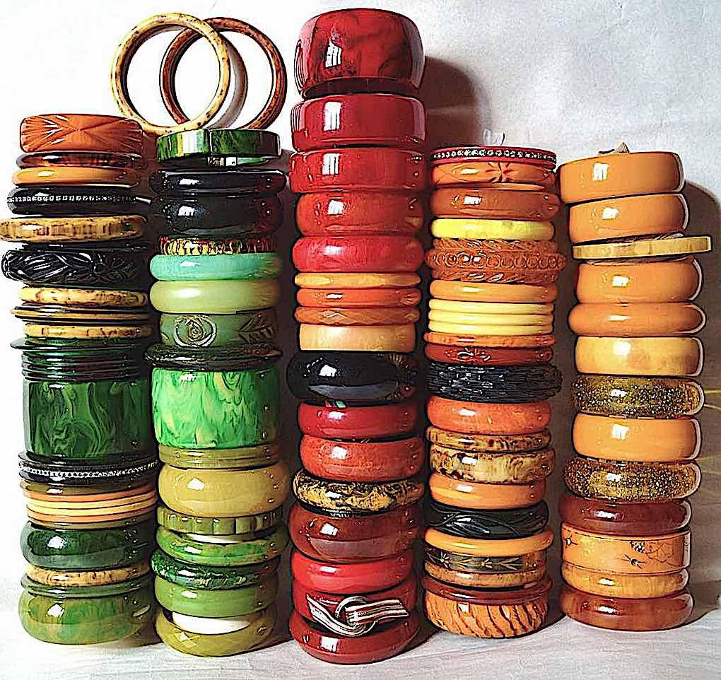 1920s Bakelite bracelets