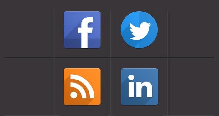 Psd Flat Social Icons | Social Icons