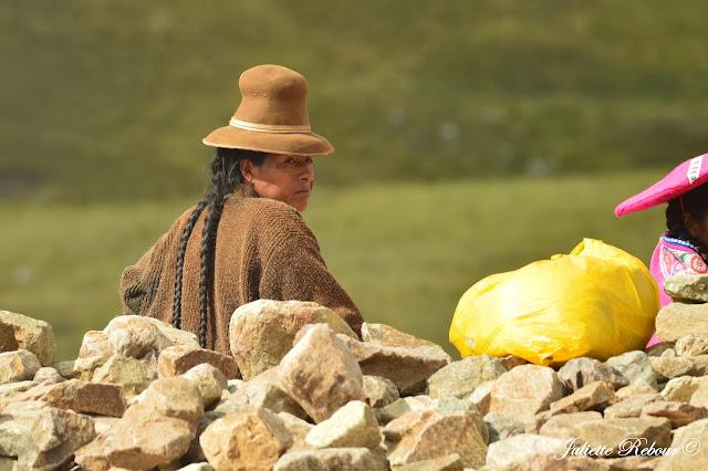 Portrait femme péruvienne