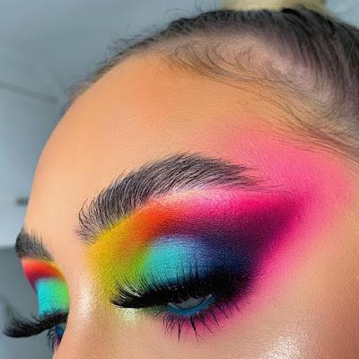 Maquillaje arcoiris - Colores vivos