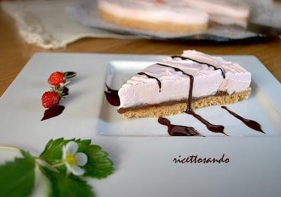 Torta fredda allo yogurt cuore di cioccolato ricetta dessert