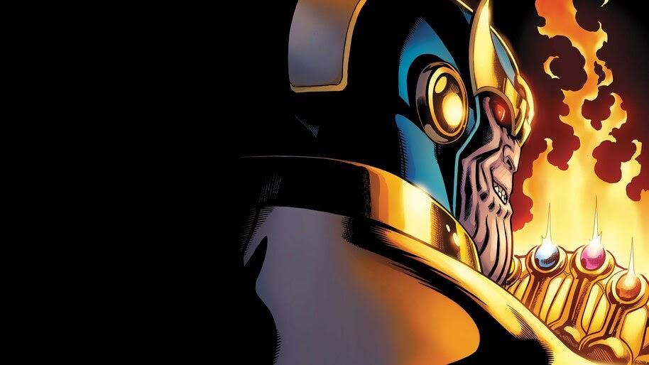 Thanos, Infinty, Stones, Infinity Gauntlet, Marvel, Comics, 4K, #4.2992