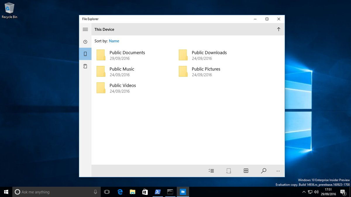 Ecco le prime schermate di Esplora File App UWP in Windows 10 2 HTNovo