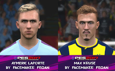PES 2017 Facepack Aymeric Laporte & Max Kruse by Feqan