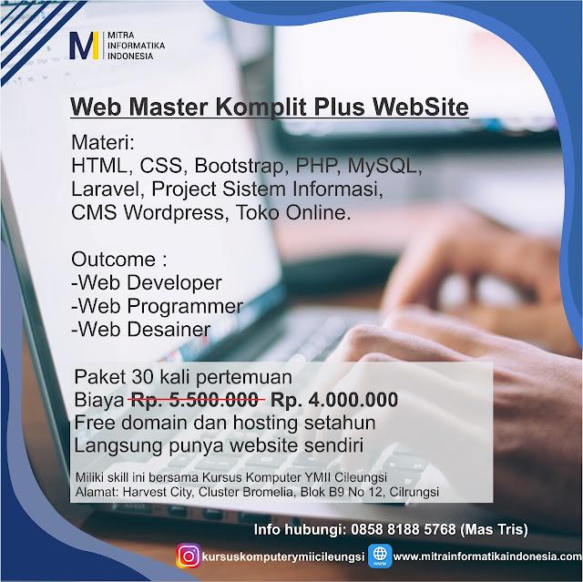kursus web programmer dan website di kursus komputer ymii cileungsi