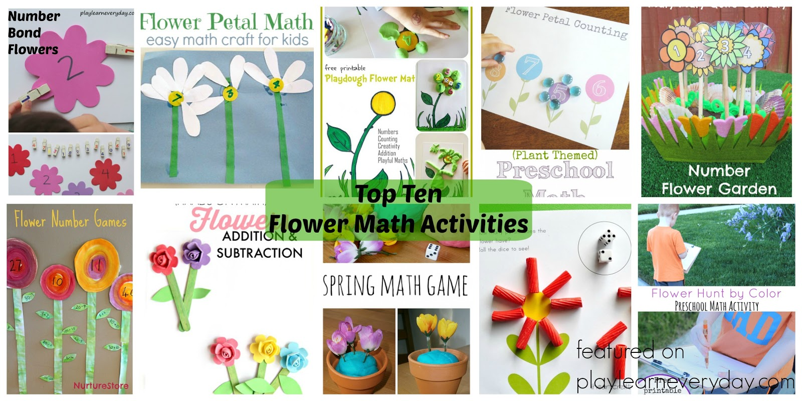Top Ten Flower Math Activities - Play and Learn Every Day