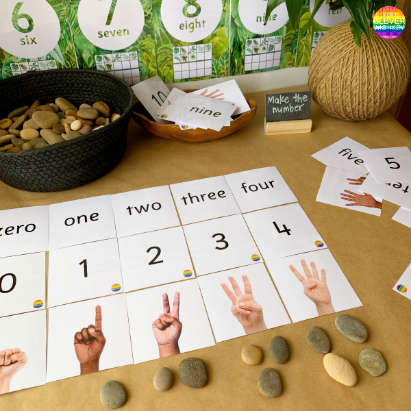 BUILDING NUMBER SENSE IN PRESCHOOL - why building strong number sense skills are so important and teaching ideas + resources to try | you clever monkey