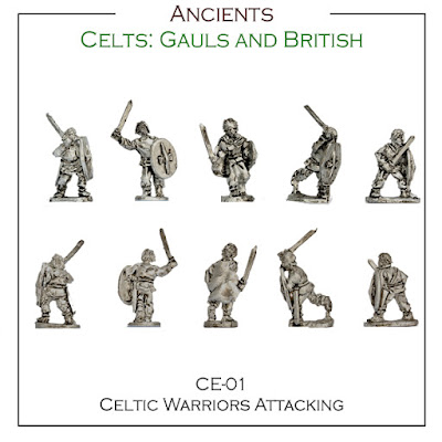 CE-01 Celtic Warriors Attacking - Singles - (32 Singles figures + 4 bases)