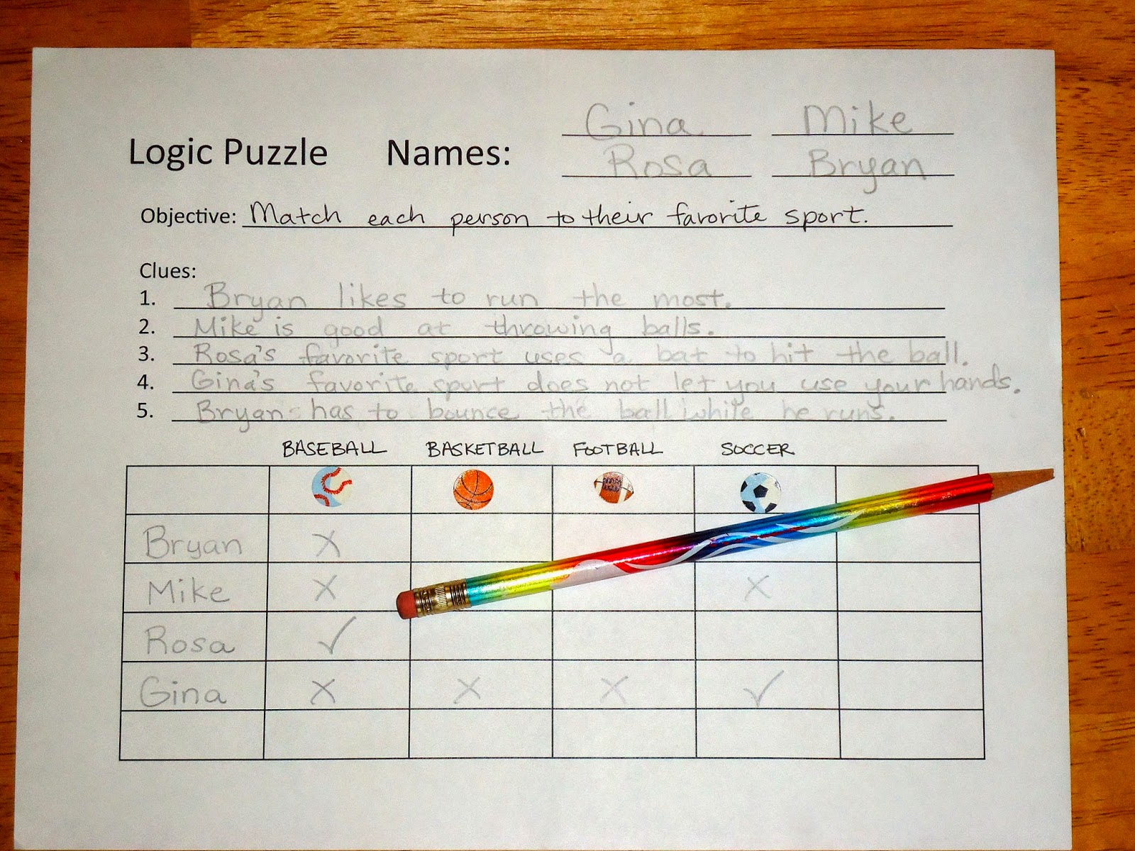 Order Of Operations Logic Puzzle 5oa1 T