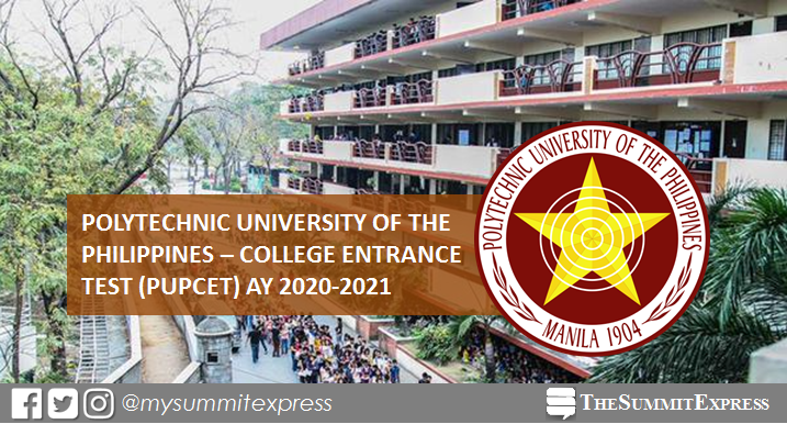 PUP College Entrance Test (PUPCET) AY 2020-2021 online application schedule, requirements
