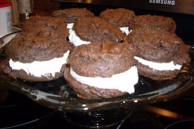Chocolate Desserts to Celebrate Valentine's Day! Chocolate Whoopie Pies.