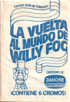 Sobre cromos La vuelta al mundo de Willy Fog Danone