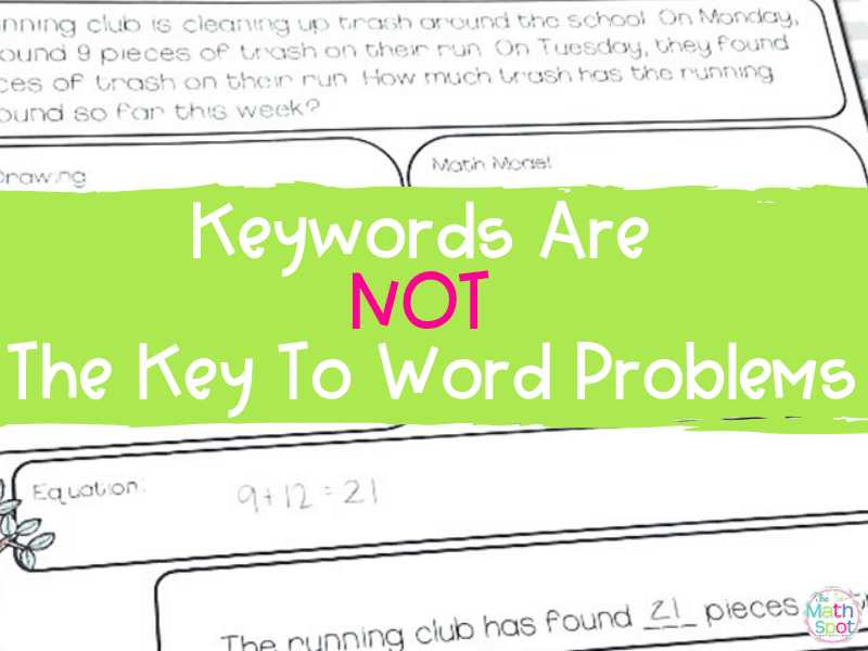 This blog post is about word problem keywords and why they are not an effective strategy to support elementary students in solving word problems.