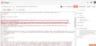 cara menghapus link gambar postingan blogger