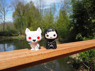 Jon Snow and Ghost Funko Pop pic