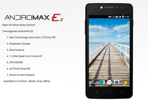 Harga HP Smartfren Andromax E2 Tahun Ini Lengkap Dengan Spesifikasi Ram 1GB Harga Rp. 900 Ribuan