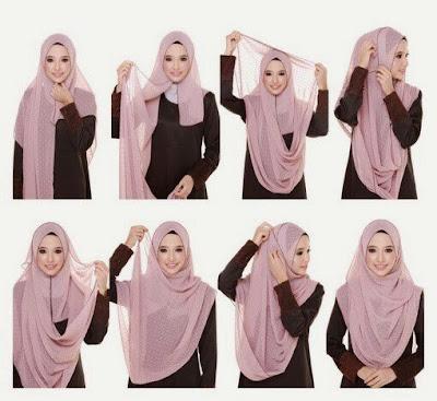 Hijab Pashima menutupi dada
