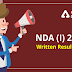 NDA and NA (I) 2021 Written Result Declared: Check Here