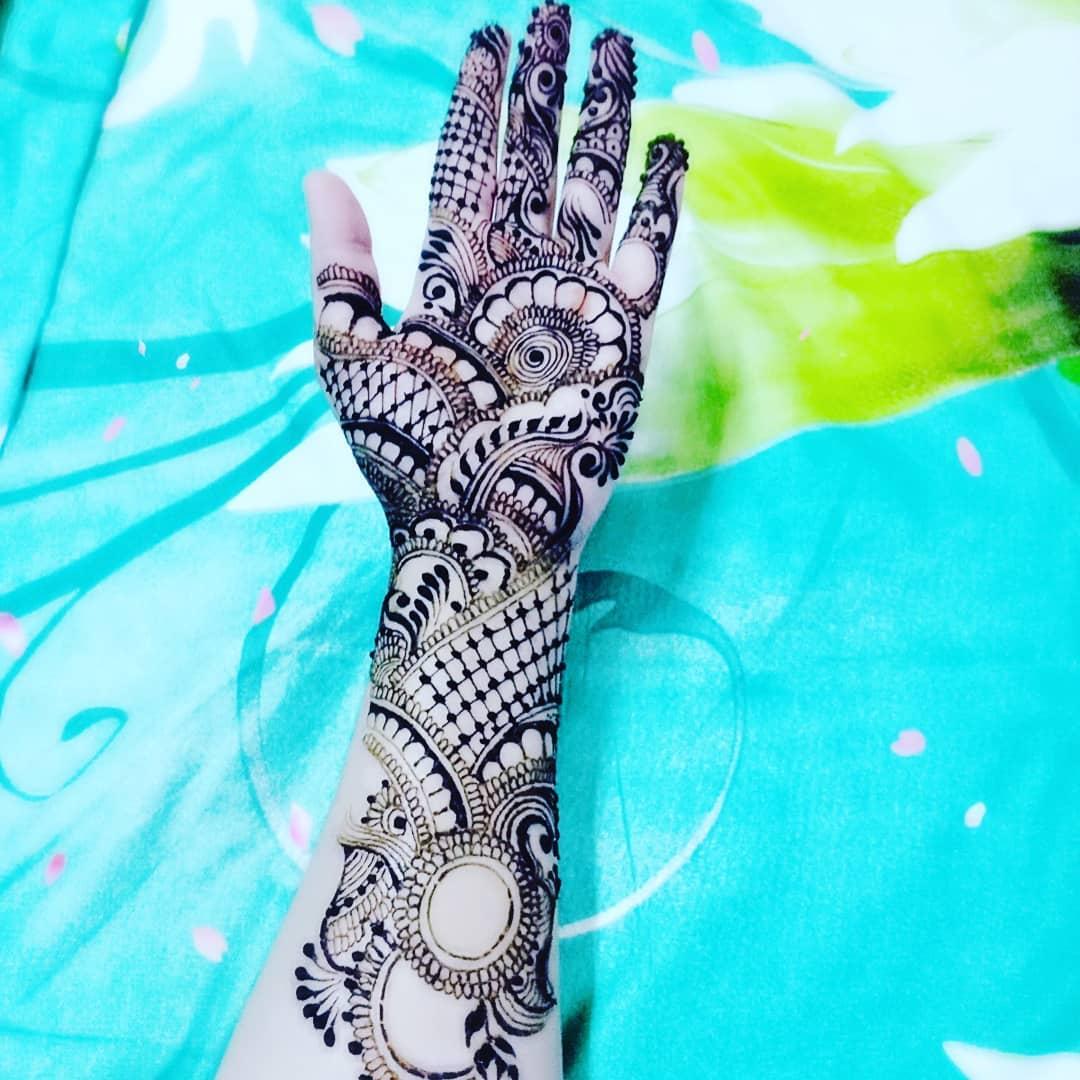 simple arabic mehndi designs for beginners step by step