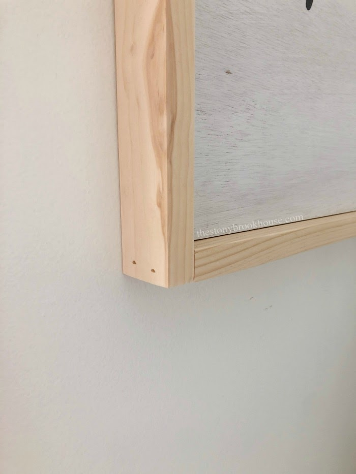 Simple corners for frame