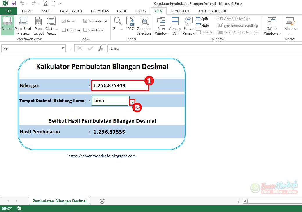 Kalkulator Pembulatan Bilangan Desimal