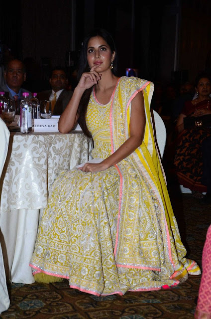 Katrina Kaif in Yellow Embroidered Anarkali At IMC And UN Women Event
