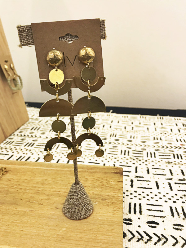 IV by David, shop local, my memphis, brass earrings