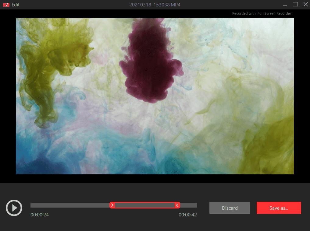 iFun Screen Recorder Edit Recordings Screenshot