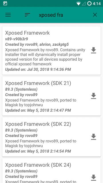 "Cara Memasang Xposed Framework + Installer Menggunakan Magisk Manager secara ""Systemless"" - Untuk OS ICS - OREO"