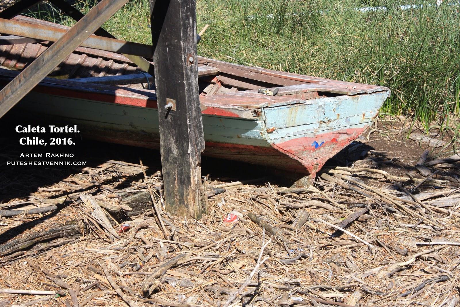 Лодка на сухих ветках