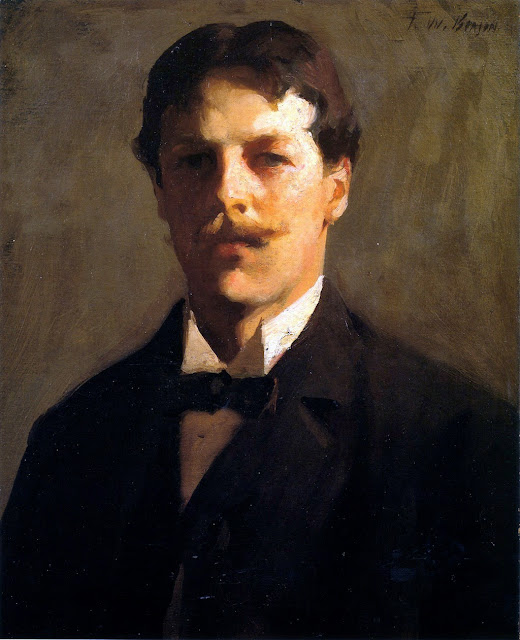 Frank Weston Benson, Self Portrait, Portraits of Painters, Frank Weston, Fine arts, Portraits of painters blog, Paintings of Frank Weston, Painter Frank Weston