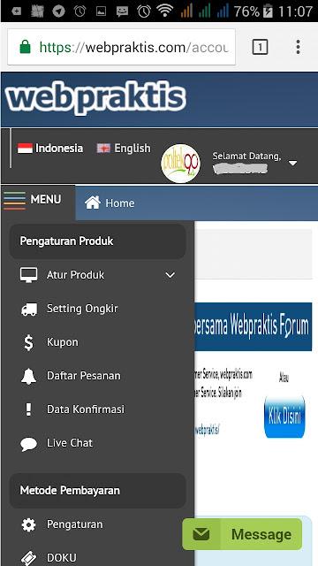 BIKIN WEBSITE .COM & TOKO ONLINE BERSUBSIDI - DASHBOARD PENGATURAN PRODUK